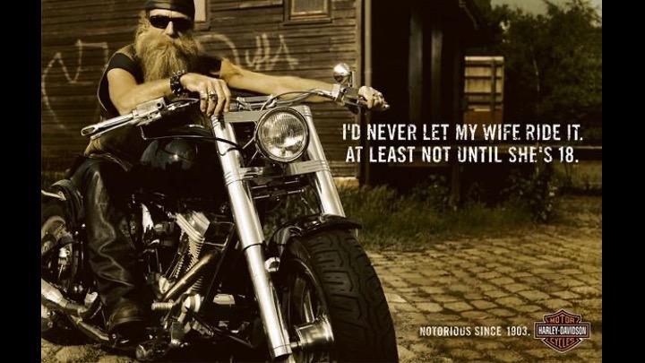 Anuncio Harley Davinson